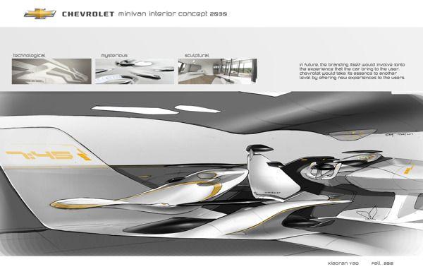 Chevrolet Minivan Interior Concept 2025 by Roy  Xiaoran Yao, via Behance