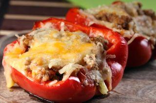 Poivrons farcis au boeuf #recettesduqc #poivron #souper