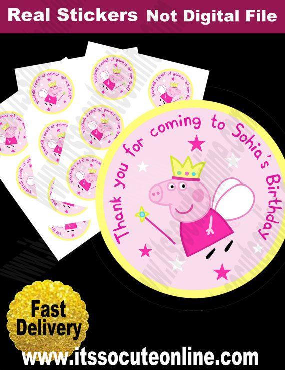 Peppa Pig Sticker/Peppa Pig Birthday/Peppa Pig by ItsSoCuteonline