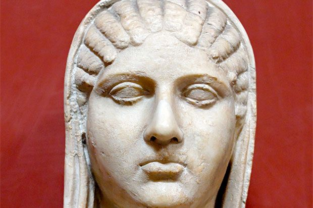 Aspasia was the partner of Pericles. It is thought that she was born in the Ionian colony of Miletus c.470 B.C. & moved to Athens where she became a hetaera. She then moved in with Pericles and bore him a son. According to Plutarch, Pericles loved her so much that he kissed her every morning & evening until the day he died. Because Aspasia was a foreigner, Athenian law prevented them from marrying. She was described as a skilled orator and engrossing conversationalist in her own right.