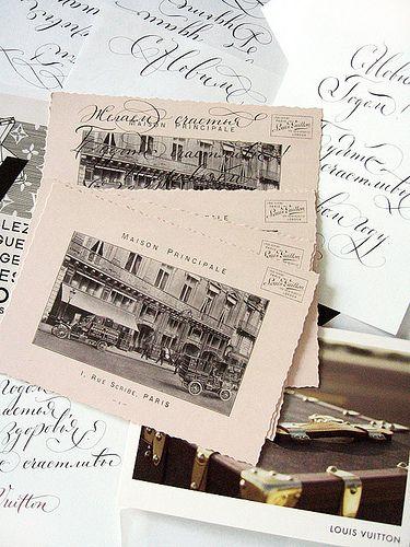 Каллиграфия для Луи Виттон   Calligraphy for Louis Vuitton.