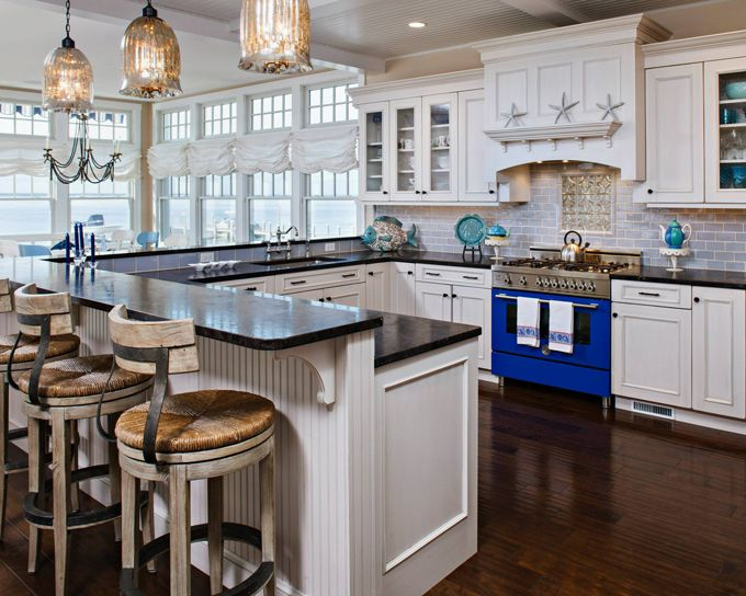 Harvey Cedars Home by Serenity Design I am SO loving the blue oven  Cottage  Kitchens  Dream  745 best COCINA   KITCHEN images on Pinterest   Dream kitchens  . Dream Kitchens And Baths Magazine Fall 2013. Home Design Ideas