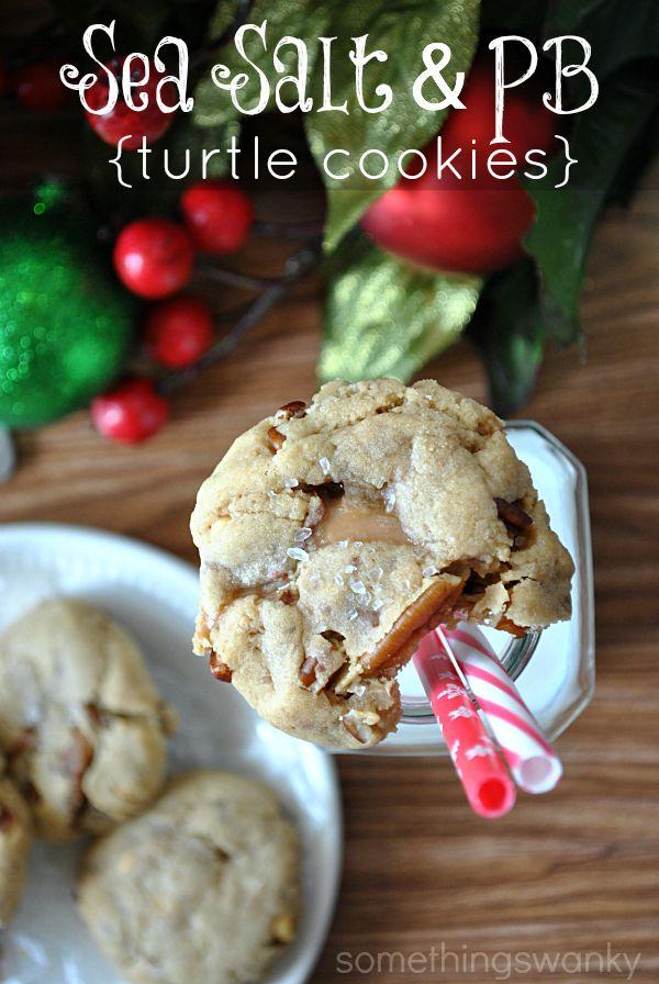 Sea Salt & Peanut Butter Turtle Cookies