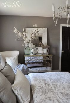 Graystone by Benjamin Moore in Matte Finish - Dear Lillie: Guest Bedroom                                                                                                                                                                                 More