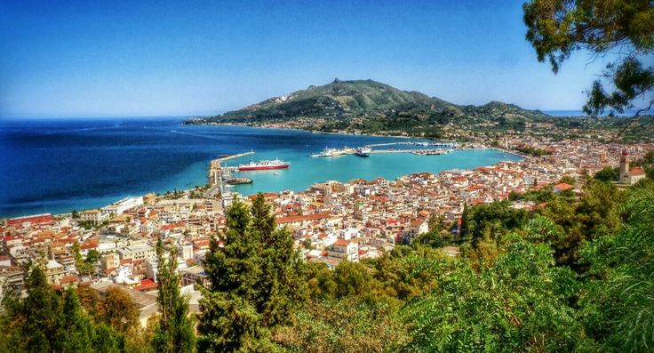 Panoramic View Of Zakynthos Town And Harbour Photography by Alistair Ford