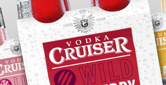 Bonney Creative case study for our rebranding project for Vodka Cruiser, we are very proud to have our work showcased on an international level.