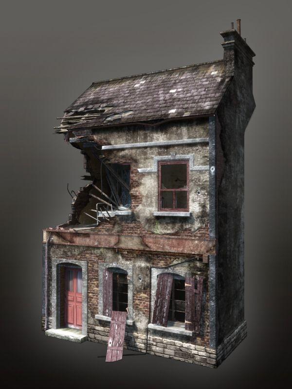 WWII Building 04 by mitchGLADNEY.deviantart.com on @deviantART