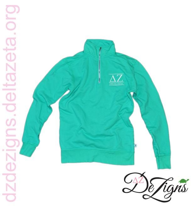 DZ DeZigns Apparel!! Classic Lined Mint 1/4 Zip--grab one before they're gone!
