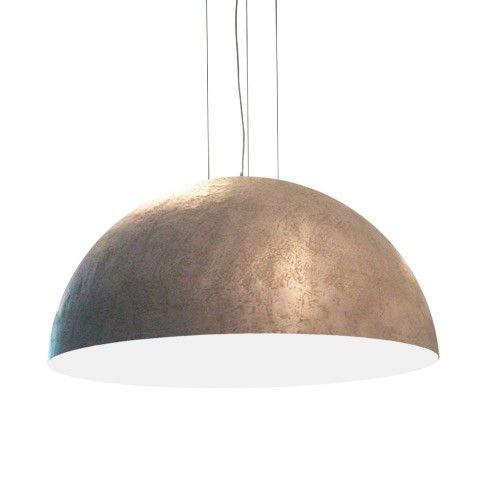 Design hanglamp rond 100cm metaallook ruw