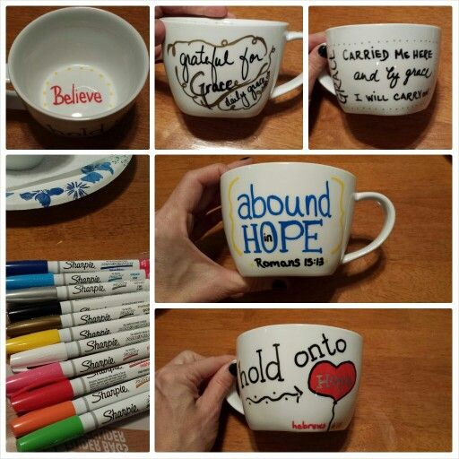 Painting on mugs #diy #craft #inspireme by Jillsamter.com