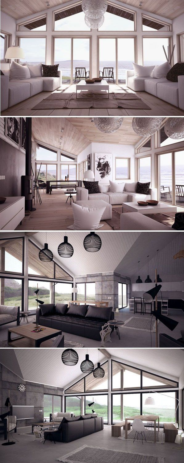 Living room, Modern Interior Design. Visit www.concepthome.com/ch85 & www.concepthome.com/ch130 to see floor plans of both houses.