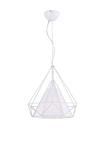 Homemania Lámpara De Suspensión Solin Blanco en  73,95 €Potencia de la bombilla: 40 W. Pantalla: Material acrílico Material: metal Dimensión: alto 110 cm, ancho 38 cm