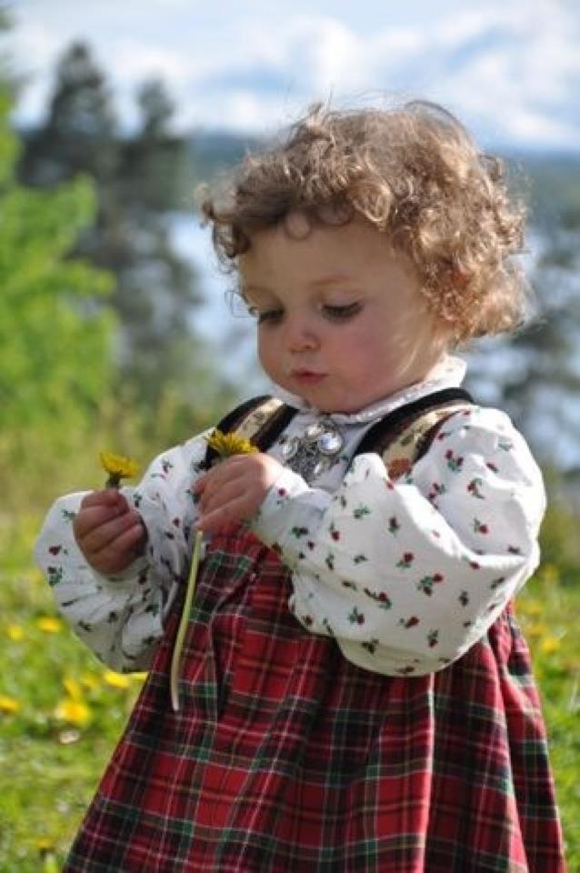 Child in Norwegian Bunad
