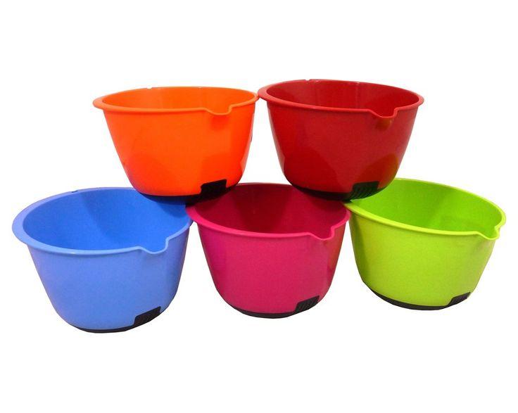 Plastic mixing bowls