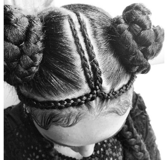 CYBER mini buns and braids