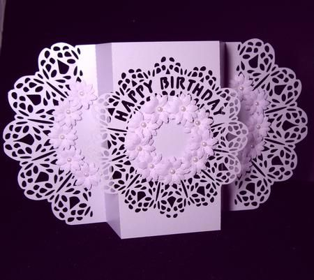 Occcasions Fancy Fold Template 1 Cameo Ready - Photo by Hand Made Finished Cards By Dianne Jackson