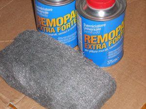 Sverniciatore gel e lana di acciaio