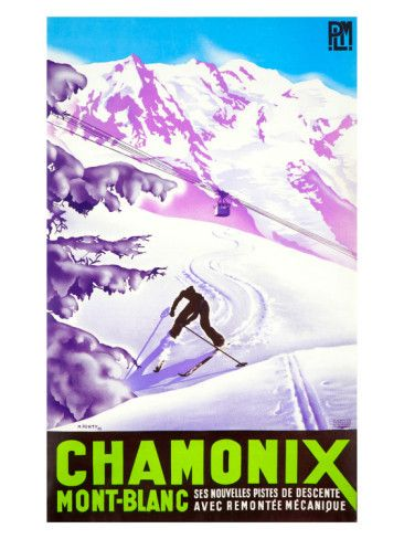 France - Chamonix #Winter Sports - #Vintage #Travel