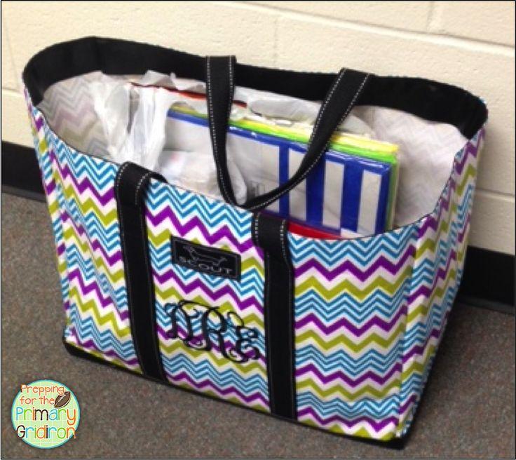 Prepping For The Primary Gridiron Teacher Tote Bag Linky Myteachertote