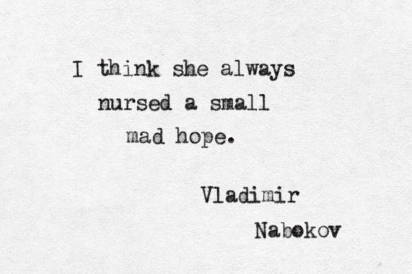 A small mad hope