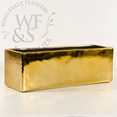 Discount Gold Ceramic Block Vases And Other Containers At