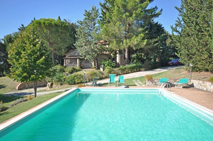 Ulignano - Nice farming villa in Tuscany, Italy, comprising 2 small independent stone farmhouses, which were skilfully restored and turned into 3 nice apartments, all of which offering comfortably interiors decorated in a rustic style. #holiday #property #Italy