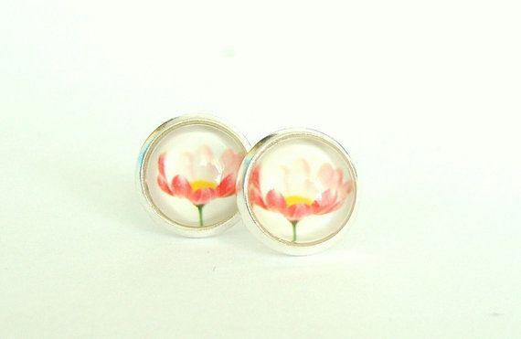 Bloom Flower Stud Earrings by CarolinePrecjoza on Etsy