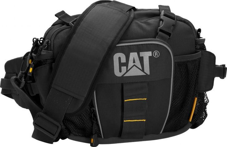"""Caterpillar Curt Messenger bag. Features: Padded 13.3"""" laptop compartment, Zipped front pocket, Organizer panel Available in black."""