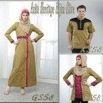Baju Sarimbit keluarga Azka Heritage 58 Hijau Olive