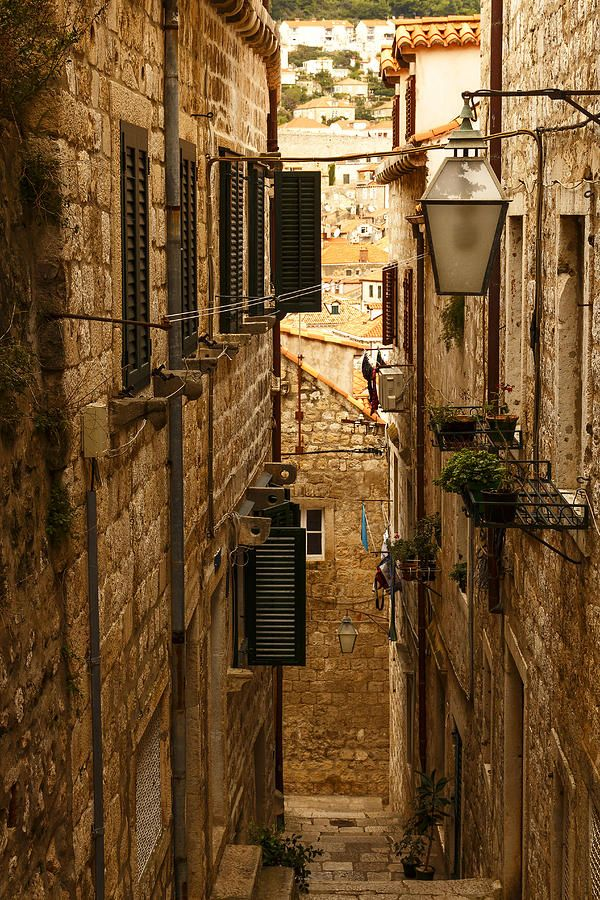 Narrow Street Of The Ancient City Photograph by George Westermak