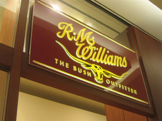 Cunneen Signs - R.M.Williams; Illuminated light box