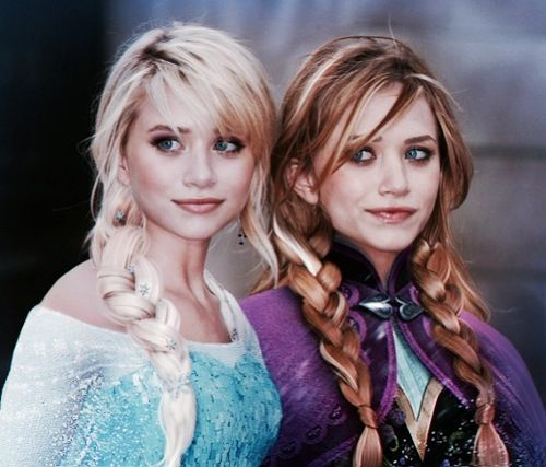 Frozen~cosplay Mary-Kate and Ashley<not sure if it's an edit or real but cool