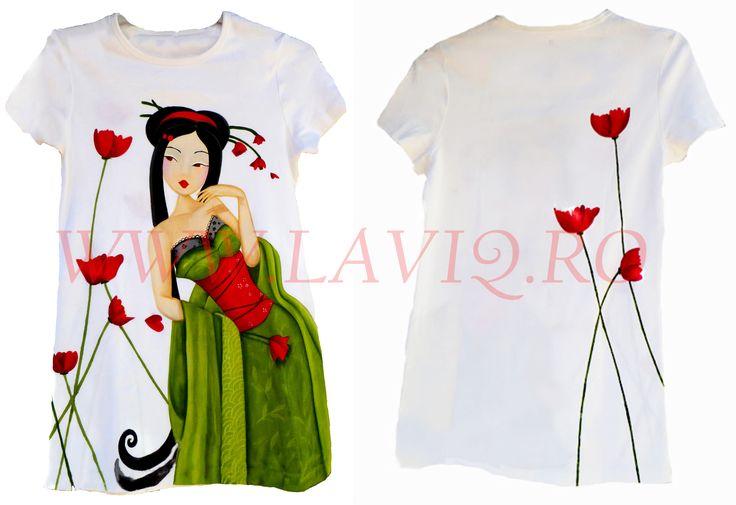 Tricou pictat JAPANESE 6     www.laviq.ro www.facebook.com/pages/LaviQ/206808016028814