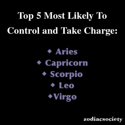 Zodiac Signs: Top 5 Most Likely To Control and Take Charge