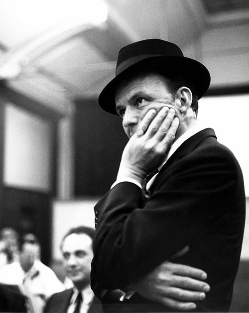 """Frank Sinatra, in London to record """"Sinatra Sings Great Songs from Great Britain"""", 1962"""
