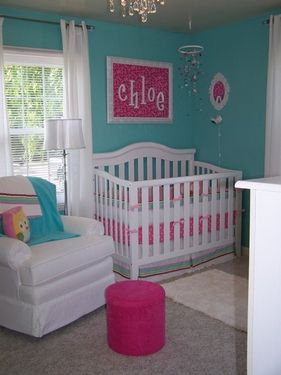baby girl roomWall Colors, Colors Combos, Tiffany Blue, Girls Room, Colors Schemes, Baby Room, Baby Girls, Girls Nurseries, Girl Rooms