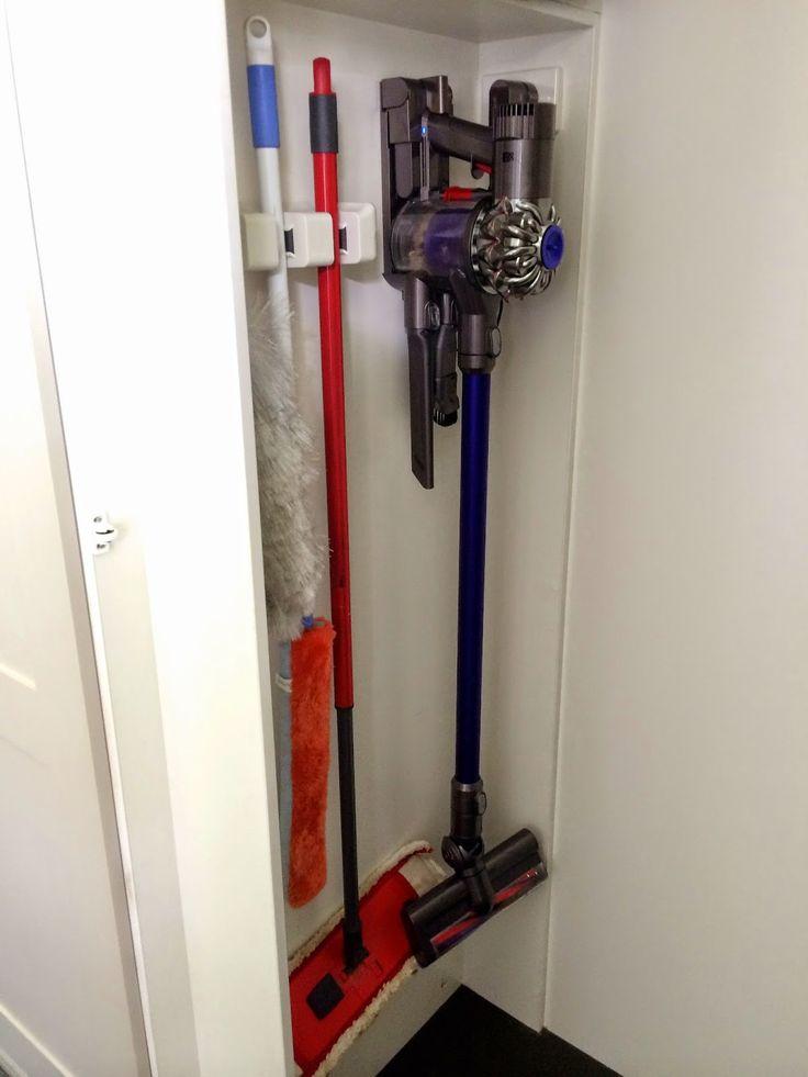 Dyson Vacuum Storage Closet Organization