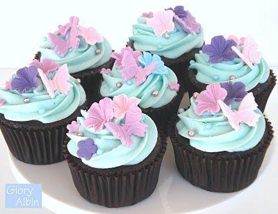 Chocolate CupcakeChocolate Cupcakes, Cupcakes Recipe, Glorious Treats, Chocolates Cupcakes, Flower Cupcakes, Perfect Chocolates, Fondant Tutorial, Cupcakes Rosa-Choqu, Fondant Cupcakes