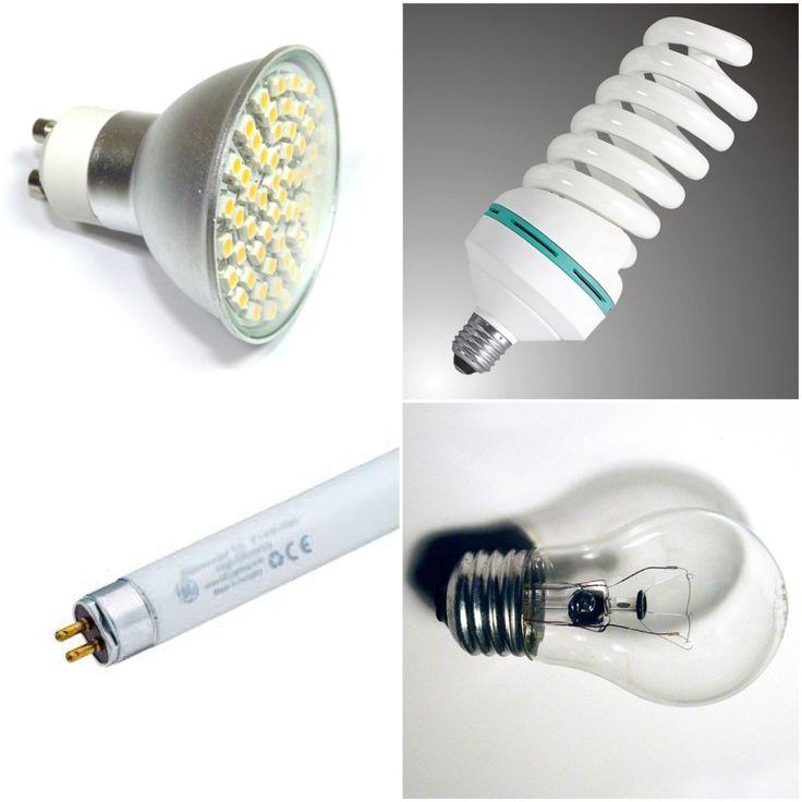 A lámpáknak több  fajtája is van. Például az izzólámpa, a fénycső, a LED lámpa és a kompakt fénycső