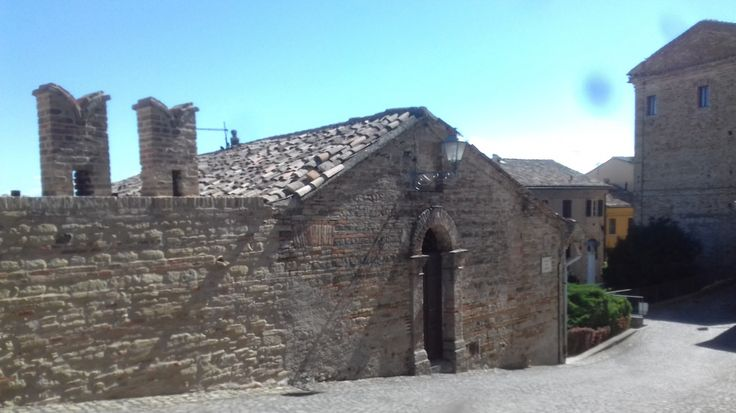 Fairy-tale house in the piazza below the Rocca