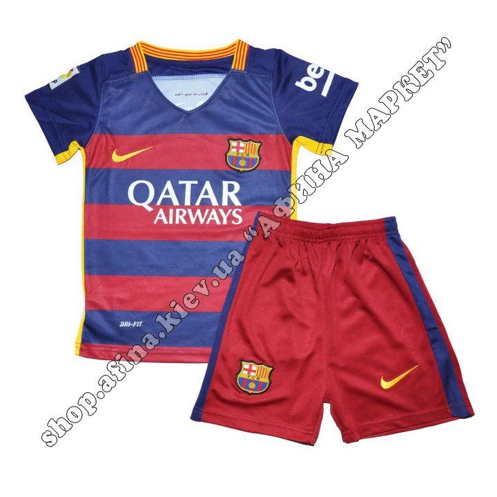 Детская футбольная форма Барселоны 2015-2016 Nike домашняя | Купить футбольную форму для детей…