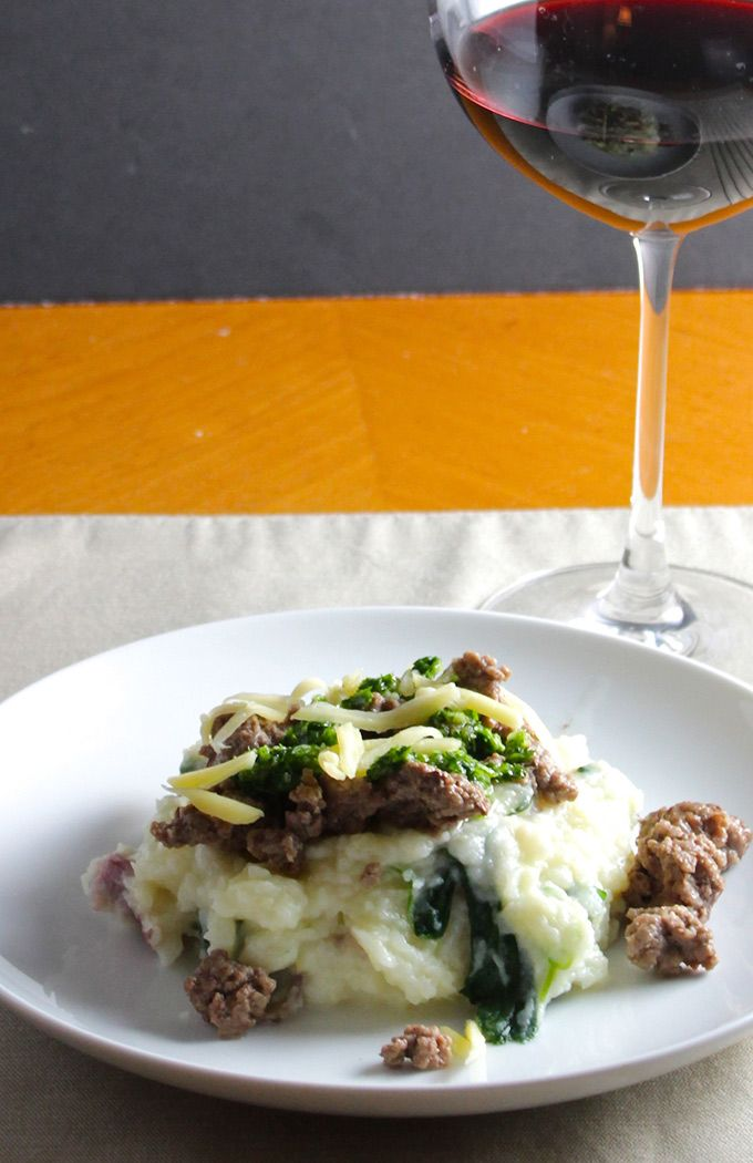Irish Cheddar Potatoes with Lamb and Parsley Pesto for a #WeekdaySupper