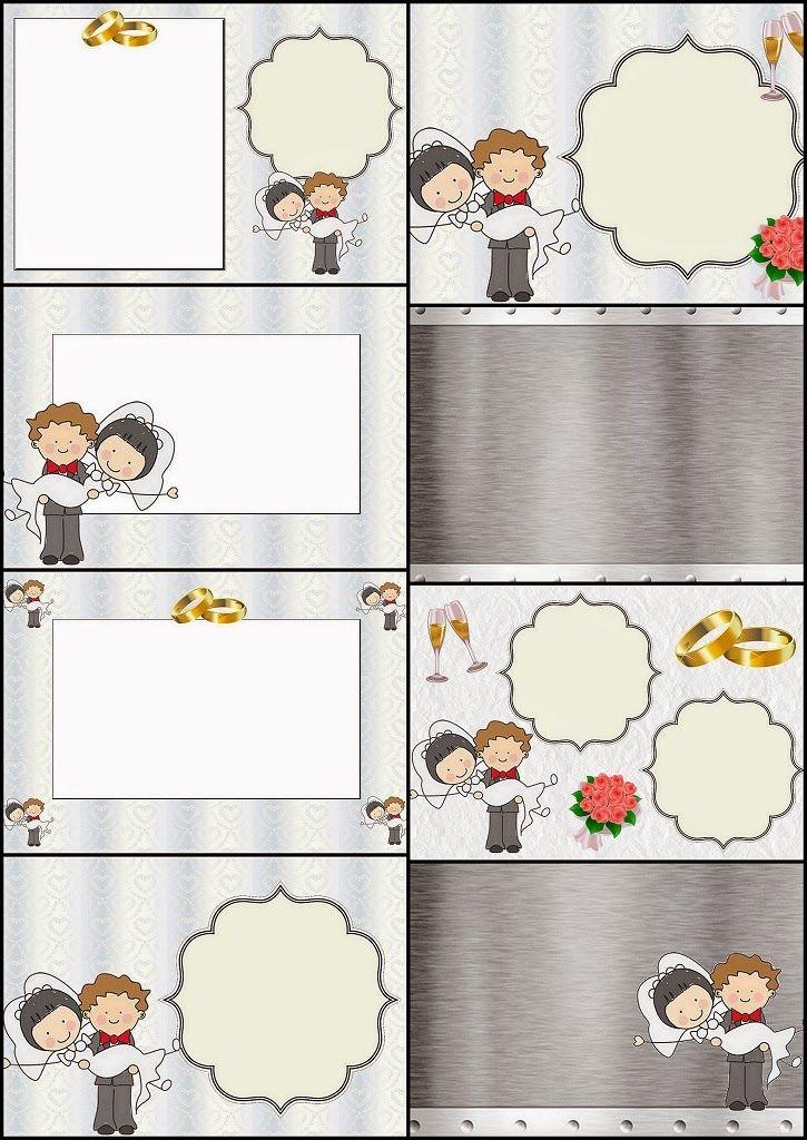 Caricatura de Novios: Invitaciones para Imprimir Gratis.