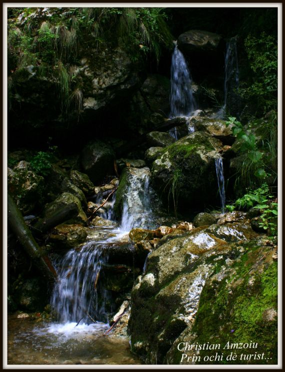 Small waterfalls on the Cat's Gorges in Piatra Craiului mountains...