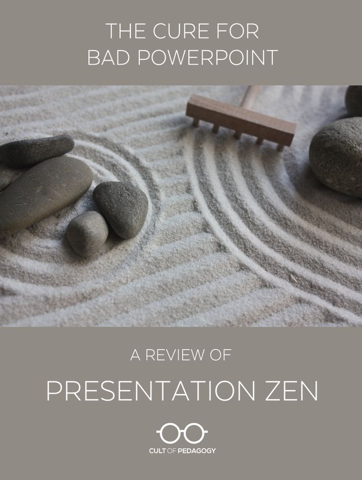 The Cure for Bad PowerPoint: A Review of Presentation Zen - You probably think your PowerPoints are pretty good. I definitely thought mine were. But after skimming a few pages of Presentation Zen, I knew my slides were about to change forever.