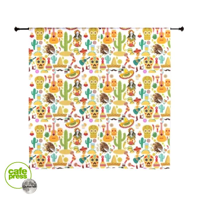 * Fiesta Time! Mexican Icons Curtains by Gravityx9 * Fun ...