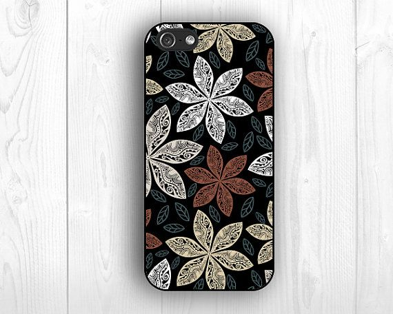 black backgroud floral cases for Iphone 5c cases  by LiveCase, $9.99