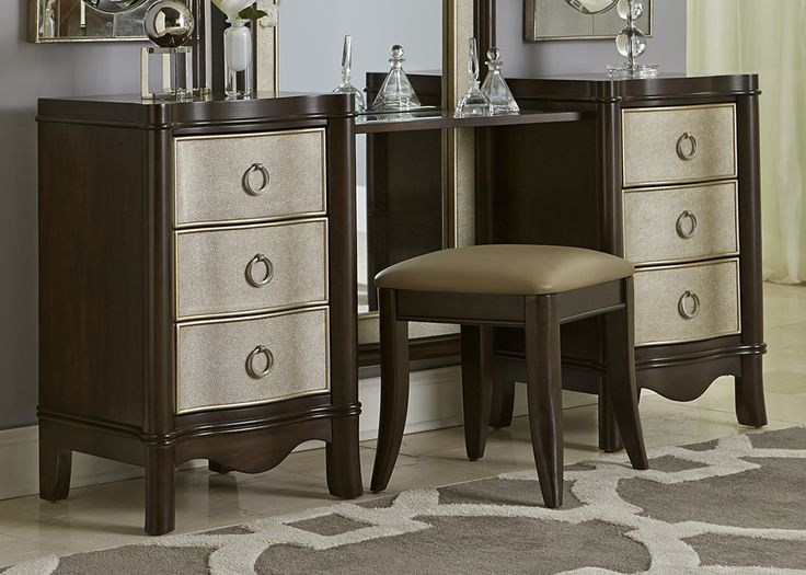 Ha! Vanity for sale at big sandy! Maybe I was into something paying my dresser drawer silver and leaving rest wood lol!