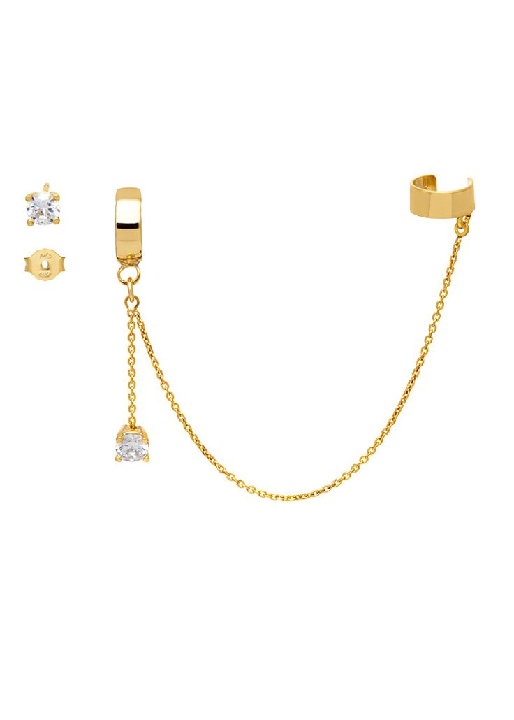 'The Bling Ring' Asymmetric Earrings