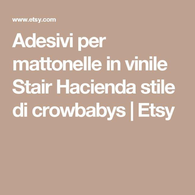 Adesivi per mattonelle in vinile Stair  Hacienda stile di crowbabys | Etsy